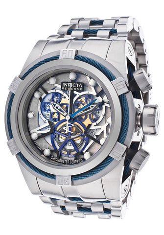 Invicta 13751 Men's Bolt Chronograph Multicolored Skeletonized Dial Stainless Steel