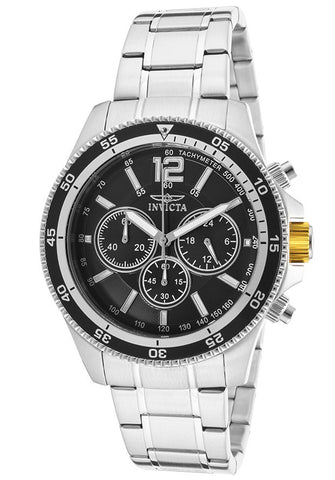 Invicta 13973 Men's Specialty Chronograph Black Dial Stainless Steel