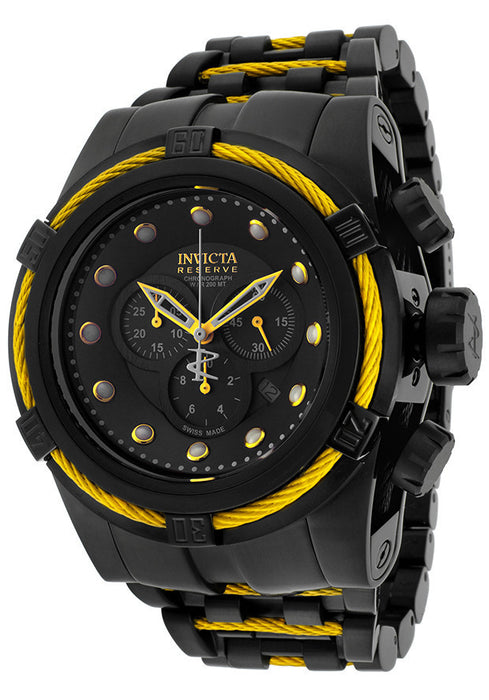 Invicta 14063  Men's Bolt/Reserve Chronograph Black Dial Black Ion Plated Stainless Steel