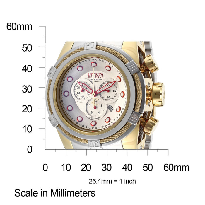 Invicta 14068 Bolt Reserve Silver Dial Gold Tone Men's Chronograph Watch