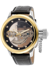 Invicta 14213 Men's Russian Diver Automatic See-Through Dial Black Genuine Leather