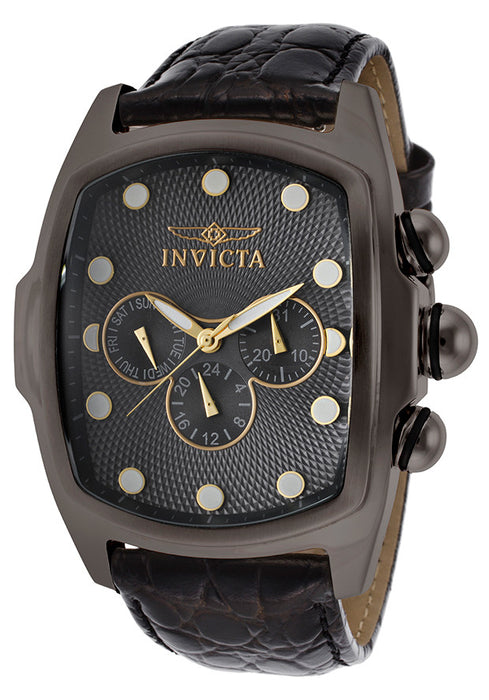 INVICTA-14548 Men's Sp. Ed. Lupah Black Genuine Leather Gunmetal Dial and Case