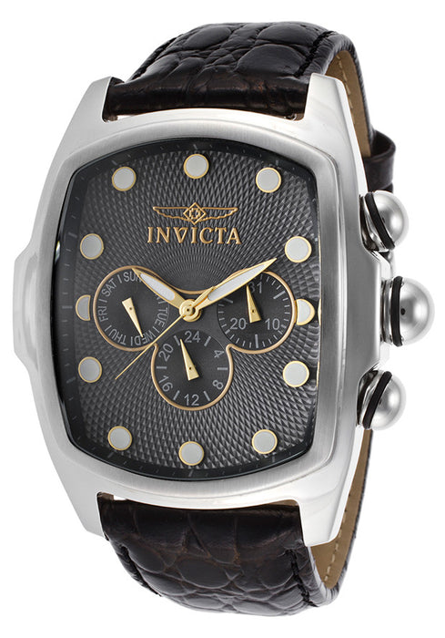 INVICTA-14549 Men's Sp. Ed. Lupah Black Genuine Leather Gunmetal Dial