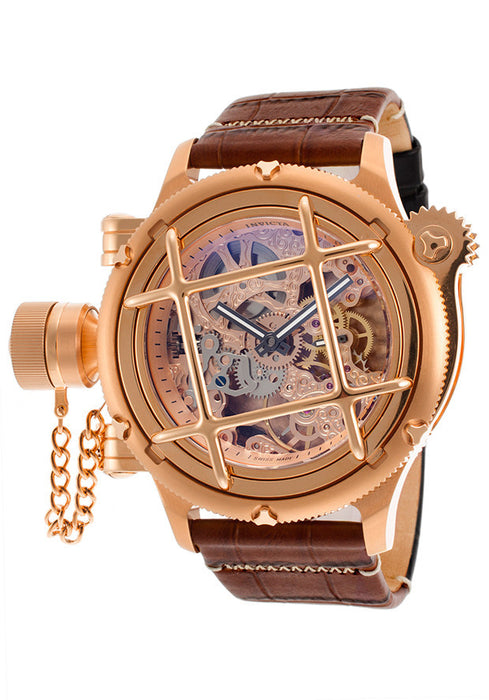 Invicta 14627  Men's Russian Diver Rose-Tone Genuine Leather Rose-Tone Dial