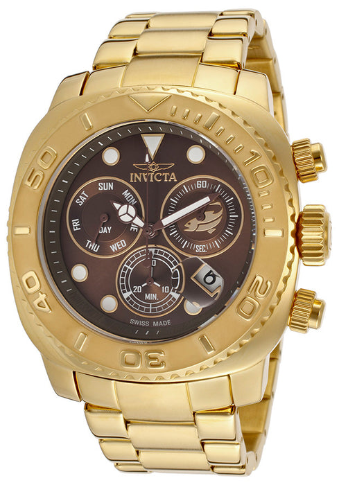 Invicta Men's INVICTA-14651 Pro Diver Analog Display Swiss Quartz Gold Watch