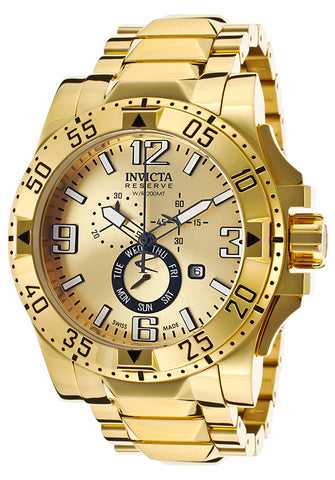 Invicta Men's Excursion 15327 Chronograph 18K Gold Plated Steel Gold-Tone Dial