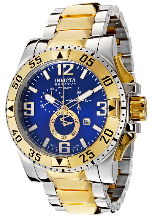 Invicta 15330 Men's Excursion Reserve Two-Tone Steel Chrono Blue Dial