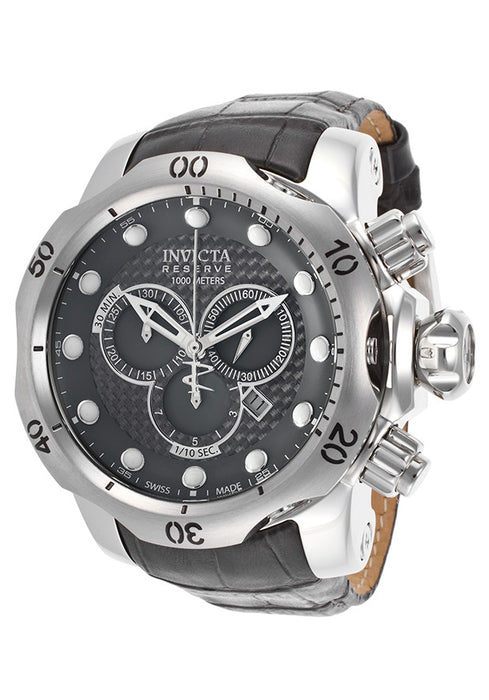 Invicta 15463 Men's Venom Chronograph Dark Grey Leather and Dial