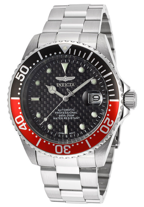 INVICTA-15585SYB Men's Pro Diver Automatic Black Carbon Fiber Dial Stainless Steel