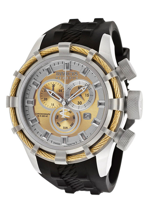 Invicta 15781 Men's Bolt Reserve Chrono Black Polyurethane Gold-Tone Dial