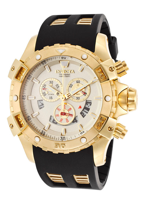 Invicta 15858 Men's Specialty Chronograph Black Polyurethane Gold-Tone Dial