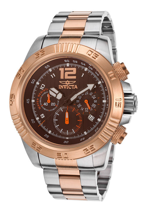 Invicta 15897 Men's Speedway Chronograph 18K Two-Tone Steel Brown Dial