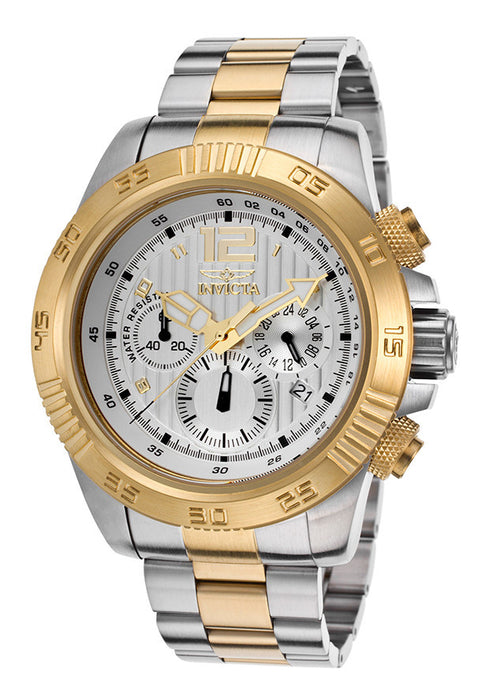 Invicta 15898 Men's Speedway Chronograph 18K Two-Tone Steel Silver-Tone Dial