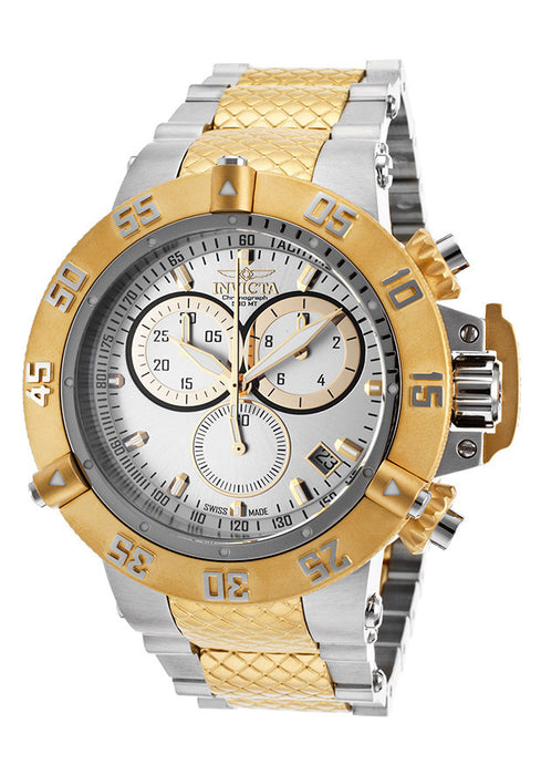 Invicta 15947 Men's Subaqua Noma III 18k Gold Plated & Steel Chrono Silver-Tone Dial