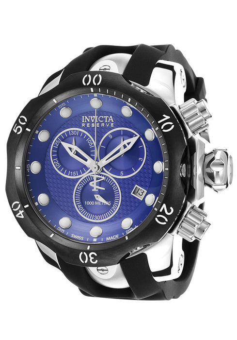 Invicta 16149 Men's Venom Reserve Chrono Black Poly Blue Textured Dial