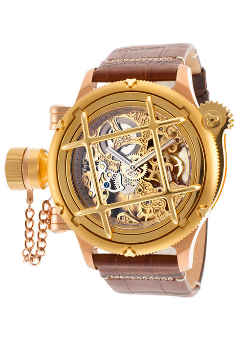 Invicta 16371 Men's Russian Diver Mechanical Brown Genuine Leather