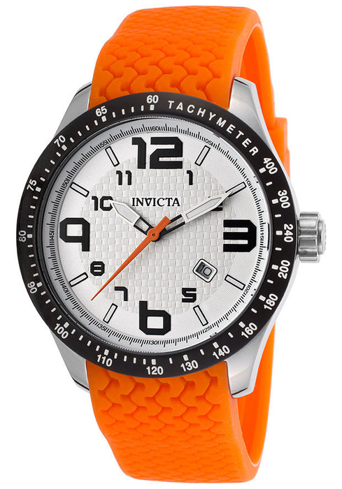 INVICTA-16643 Men's BLU White Textured Dial Orange Polyurethane