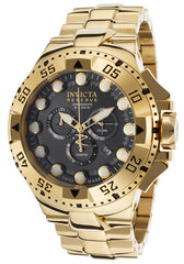 INVICTA 16680 Men's Excursion Chronograph 18K Gold Plated Steel Gunmetal Dial