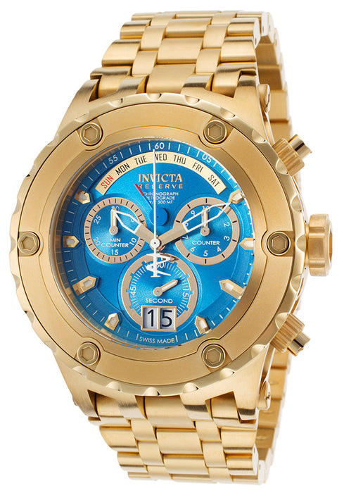 Invicta 16884 Men's Subaqua Chronograph 18K Gold Plated Steel Blue Dial