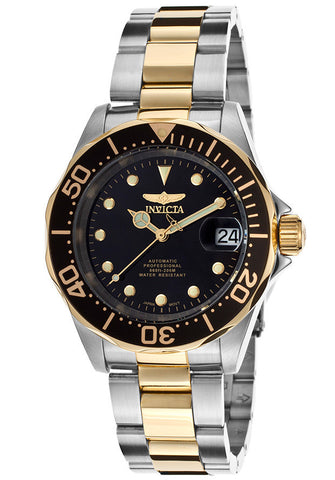 INVICTA-17043 Men's Pro Diver Automatic Black Dial Two Tone Stainless Steel