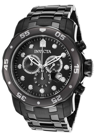 Invicta 17085 Men's Pro Diver Chronograph Two-Tone Bracelet Gunmetal Dial