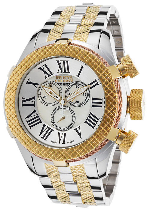 INVICTA 17435 Men's Bolt Reserve Chrono 18K Gold Plated and Stainless Steel