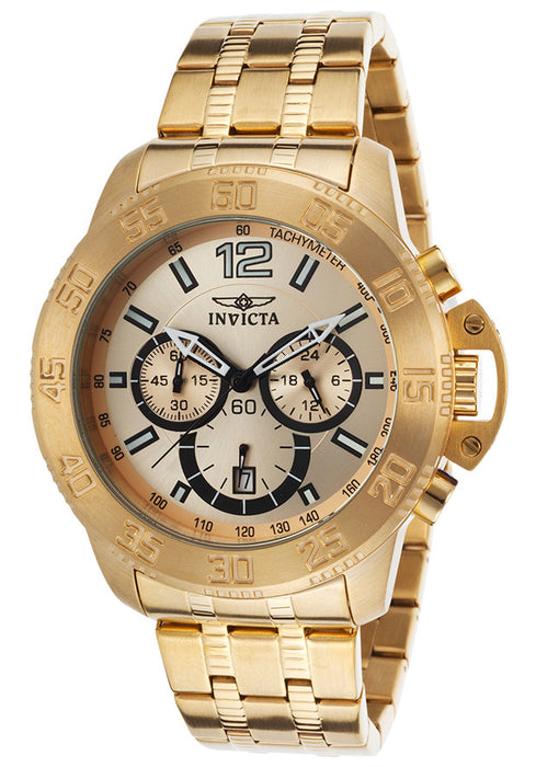 Invicta Men's 17446SYB Specialty Analog Display Japanese Quartz Gold Watch