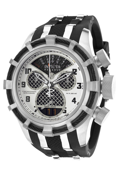 Invicta 17464 Men's Invicta Bolt Reserve Chrono Black Polyurethane Black Carbon Fiber Dial