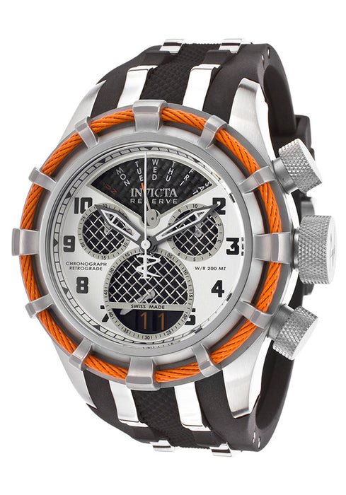 Invicta 17466 Men's Bolt Reserve Chrono Black Polyurethane Carbon Fiber Dial