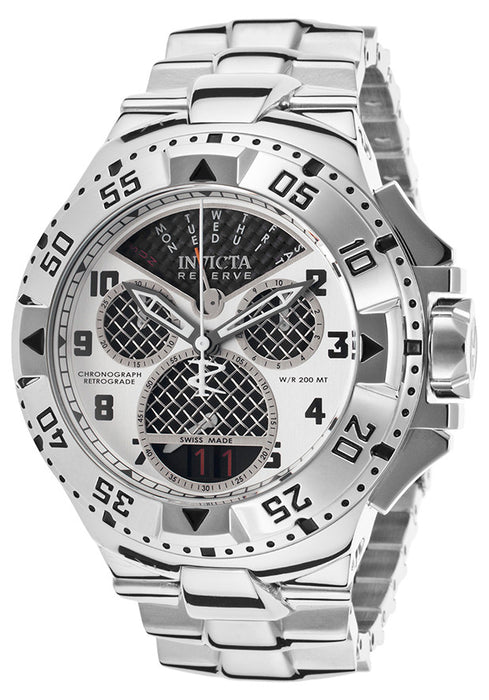 Invicta 17468 Men's Excursion Reserve Chrono Stainless Steel Black Carbon Fiber Dial