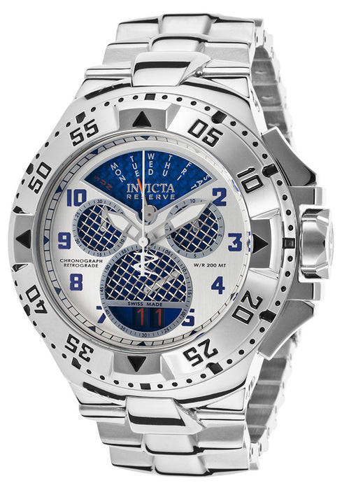 Invicta 17469 Men's Excursion Reserve Chrono Stainless Steel Blue Carbon Fiber Dial