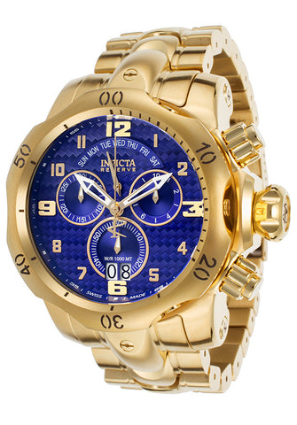 Invicta 17635  Men's Venom Reserve Chrono 18K GP SS Blue Carbon Fiber Dial