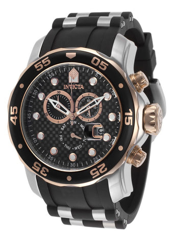 Invicta  17877 Pro Diver Chronograph Black Dial Black Rubber Mens Watch