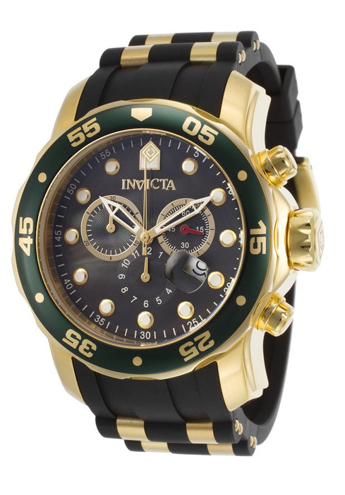 Invicta Pro Diver Chronograph Green Black Polyurethane Mens Watch 17883