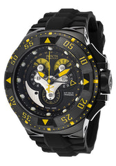 Invicta 18556 Men's Excursion Reserve Chrono Black Polyurethane and Dial