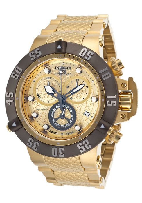 Invicta 20158 Men's Subaqua Noma III Chrono 18K Gold Plated Steel Gold-Tone Dial