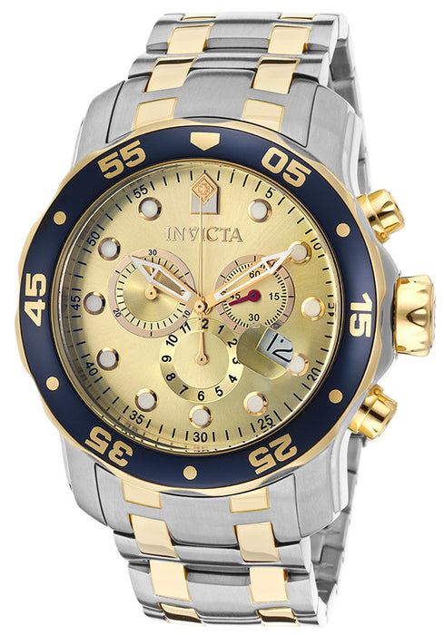 Invicta Men's 80080 Pro Diver Analog Display Swiss Quartz Two Tone Watch