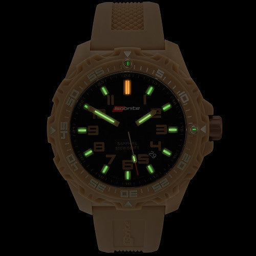 ISOBrite T100 Valor Series Tan/Black Watch, ISO304