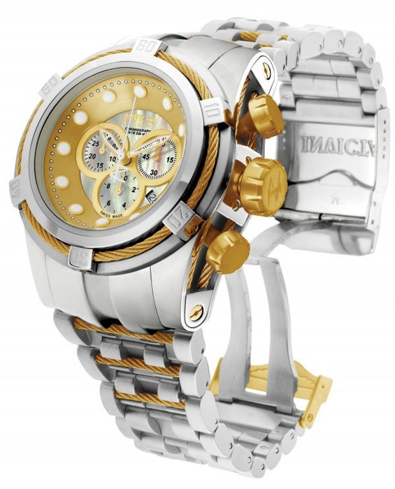 Invicta 0822 Men's Reserve Chronograph Mother of Pearl Dial Stainless Steel Watch