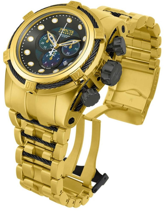 Invicta 12741 Reserve Bolt Zeus Gold Swiss Chronograph Stainless Steel Watch