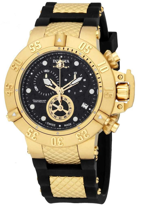 Invicta 15799 Subaqua Noma Black Dial Gold Tone Chronograph Watch