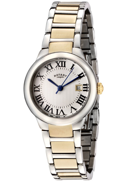 Rotary LB02525/01 Women's Silver Textured Dial Two Tone