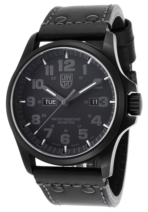 Luminox 1921-BO Men's Atacama Black Genuine Leather and Dial