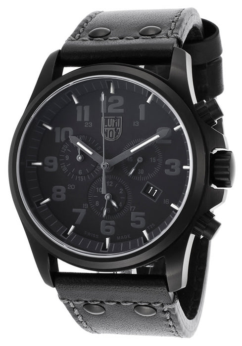 Luminox 1941-BO Men's Atacama Chronograph Black Genuine Leather and Dial