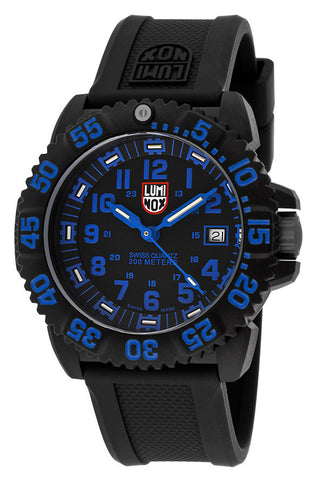 Luminox 3053-NVBLU Men's Black Dial Black Rubber