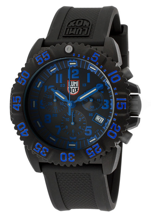 Luminox 3083 Men's Chronograph Sea Black Dial Black Silicone