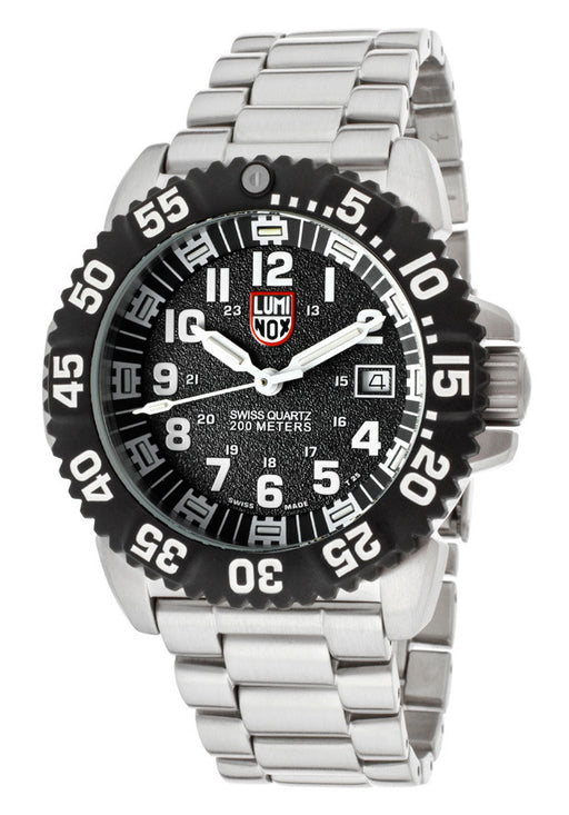 Luminox 3152 Men's Black Textured Dial Stainless Steel