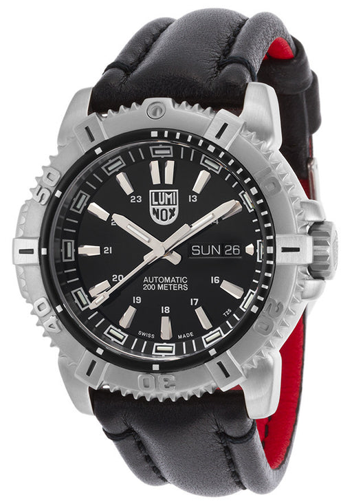 Luminox Men's Modern Mariner 6501 Automatic Black Genuine Leather Black Dial