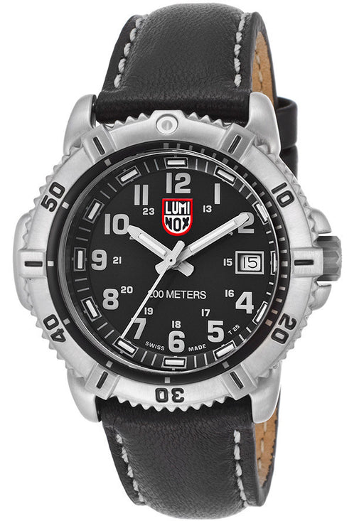 LUMINOX-7251 Women's Black Dial Black Genuine Leather