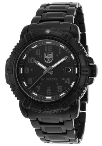 Luminox 7252-BO Women's Modern Mariner Black Dial and Stainless Steel Bracelet